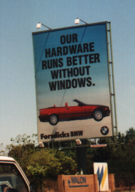 BMW: Our software runs better without Windows