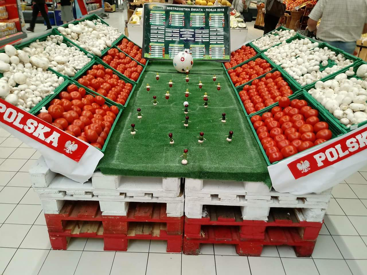 Supermarket in Poland during football world cup