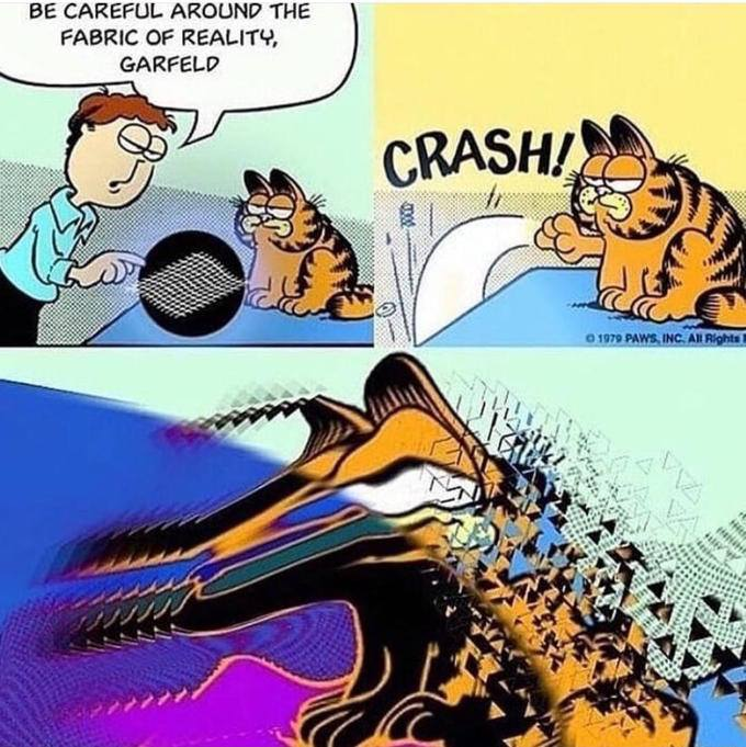 Garfield and the fabric of reality huussikirja for The fabric of reality